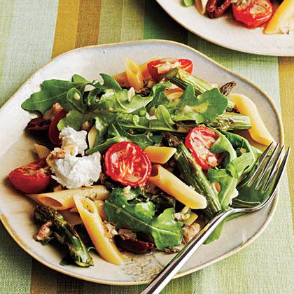 asparagus tomato salad (vegetarian)