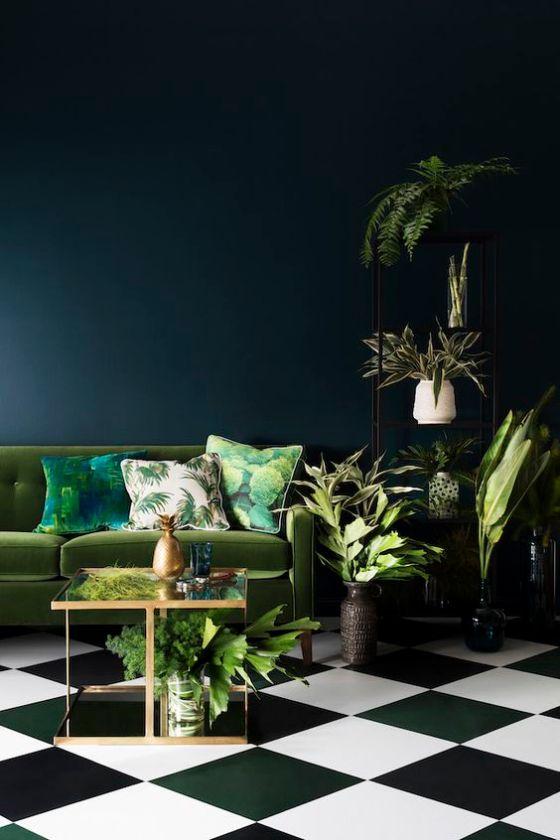 pantone + deep turquoise interior design
